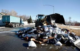100 Garbage Truck Youtube Billings Garbage Truck Drops Load After Trash Exploded Local