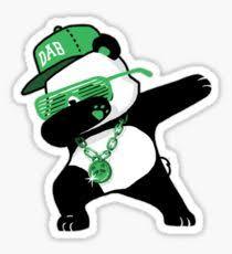 Dabbing Panda Bear Sticker