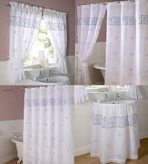 Gold And White Curtains Uk by Bathroom Window Curtains Ebay