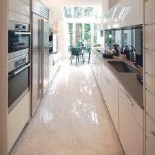 narrow kitchen ideas uk