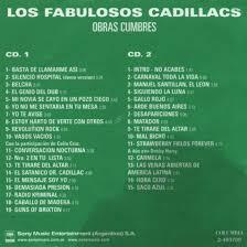 Carátula Interior Frontal de Los Fabulosos Cadillacs Obras