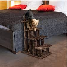 Pet Stairs For Tall Beds by Amazon Com Furhaven Pet Steady Paws 4 Step Pet Stairs Brown