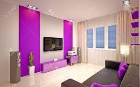 moderne wohnzimmer hell lila farbtönen