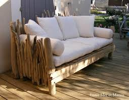 canap bois canapés en bois flotté entre mer et marais créations en bois flotté