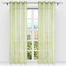 gardinen mit ösen vorhang transparent ösen schals voile wohnzimmer modern grün ebay