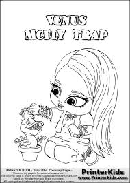 Printable Coloring Sheets Monster High Baby Pages Free