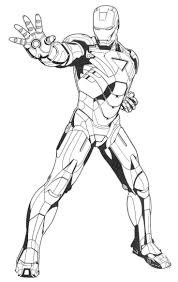 Iron Man Ready Ultimate Weapon Coloring Pages