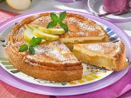 birnenkuchen mit pudding