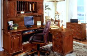 Magellan L Shaped Desk Hutch Bundle by Desk Nice L Shaped Executive Desk Applied On The Cream Floor Can