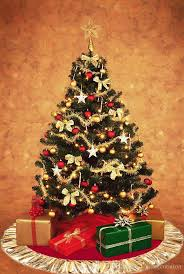 New Fashion 90cm Red Christmas Tree Skirt With Golden Ruffle Edge Year Decoration Decorations Top Quality Outside