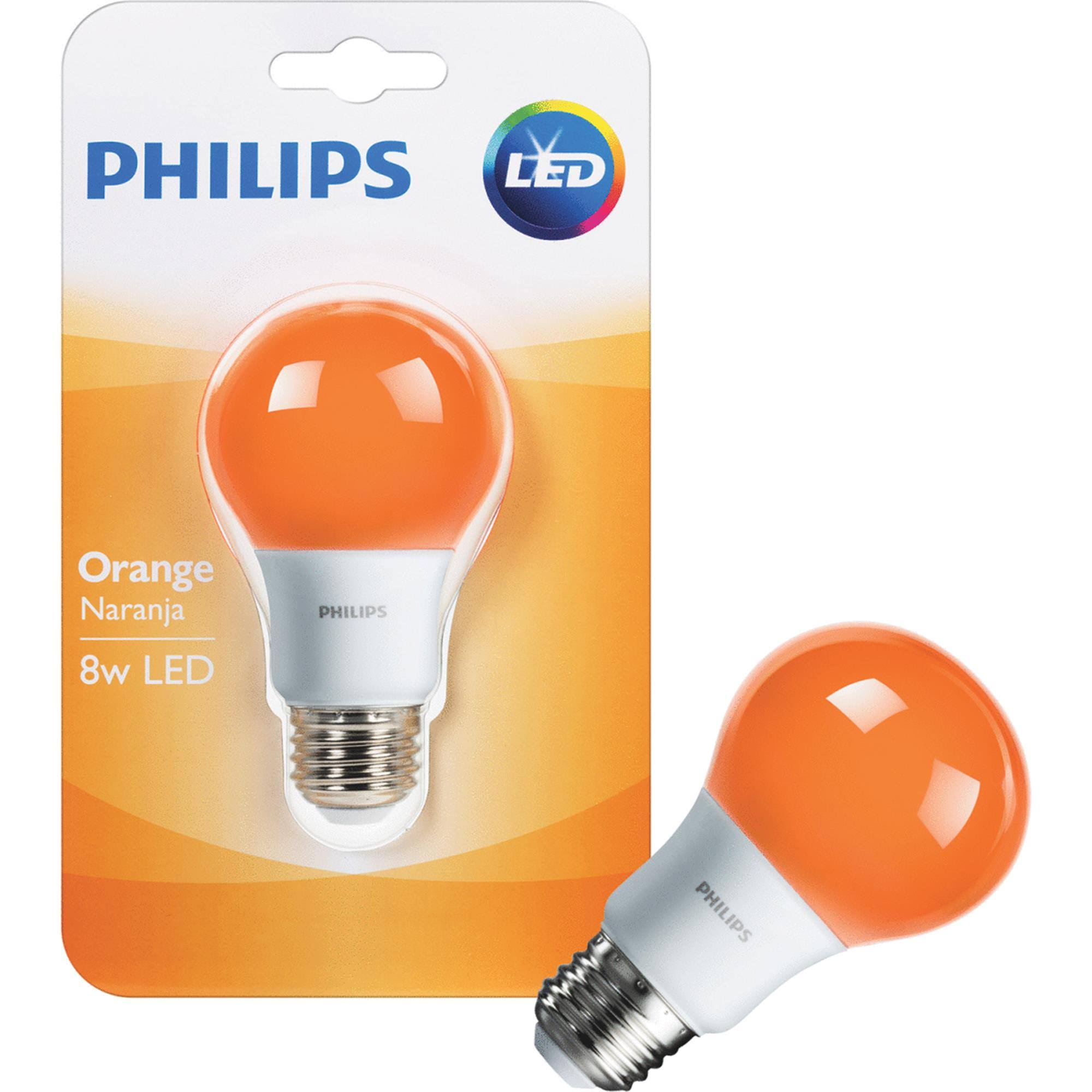 Philips Led Light Bulb - 60W, Orange, A19