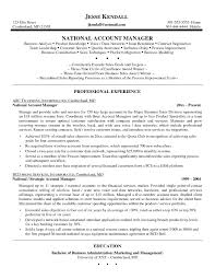 Sample Resume Cover Letter Key Account Manager Examples New Management