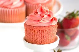 Pink Strawberry Cupcakes recipe by RecipeGirl