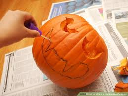 Simple Steps To Carving A Pumpkin by How To Make A Halloween Pumpkin 9 Steps With Pictures Wikihow