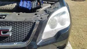 2008 gmc acadia headlight low beam change