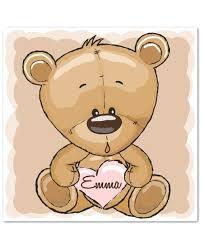 tableau ourson chambre bébé tableau chambre enfant tableau personnalisé cadeau de naissance