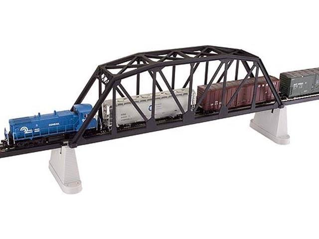 "Atlas 888 HO Code 100 18"" Black Through Truss Bridge Kit"