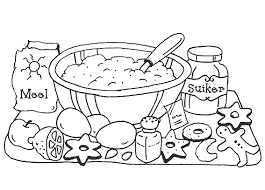 Sumptuous Design Cooking Coloring Page Pages Kitchen And