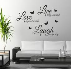 decorative words for walls foodymine live laugh wall sticker quote wall decor wall