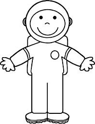 Astronaut Kid Open Hand Coloring Page