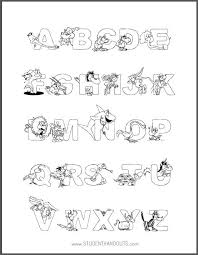 Animal Alphabet Coloring Sheet I Love This Site Because Their Free Printables Really