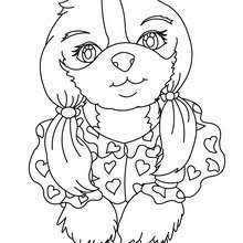 Lady Dog Coloring Page