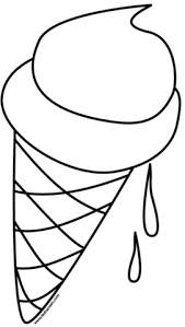 Click To See Printable Version Of Ice Cream Cone Coloring Page