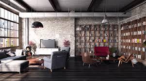 104 Urban Loft Interior Design Industrial On Behance