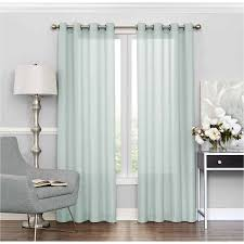 Walmart Mainstay Sheer Curtains by Eclipse Liberty Light Filtering Sheer Curtain Walmart Com
