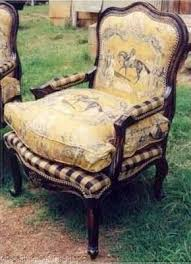 Love The Yellow Toile With Buffalo Check Coordinating Fabric Such A Cute French Country Chair