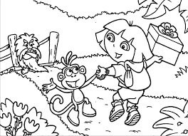 Print Dora Coloring Pages