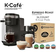 Keurig K Cafe Single Serve Coffee Maker Latte And Cappuccino Espresso Roast Cup Pods Variety Pack 24 Count Best Price