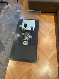 wohnzimmer glastisch