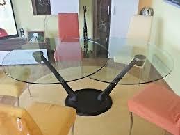 designer esstisch glastisch rund u ausziehbar v bontempi