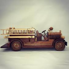 Handmade Model Fire Truck #artist #woodwork #design #truck ...
