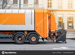 100 Waste Management Garbage Truck Disposal Lorry At City Street Dump Truck On Town Road