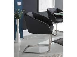 mwa aktuell stuhl polsterstuhl mit armlehnen bezug aus kunstleder schwarz und schwinggestell edelstahl