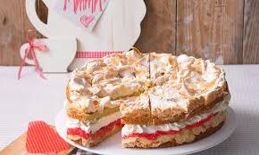 rhabarber schnee torte