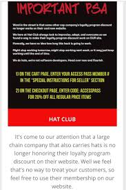 Hat Club Honoring Lids Access Pass [20% Code] : Neweracaps Priceline Express Deals Coupon Promo Code With 10 Off 50 Off Lids Coupons Discount Codes Wethriftcom Studio 24 For Existing Customers Blue Cotton Stack Offers Amass Avios This Weekend 36piece Rubbermaid Storage Set Only 17 At Kohls The Free Printable Lids November December Free Virgin Australia Ozbargain Pataday Coupon Hats And Capscouk 5 Star Gainesville Milb Shop Hats Apparel Merchandise Minor League