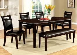Furniture Of America CM3024T 6PC 6 Pc Woodside Dark Cherry Wood Finish Dining Table Set