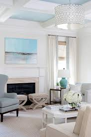 Heather Gray Chair With Sea Blue Lamp