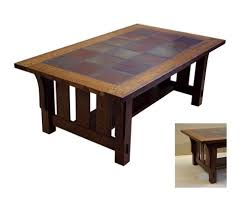 crafted tile top coffee table by rb woodworking custommade