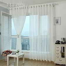thermovorhänge white voile gardinen für wohnzimmer tüll