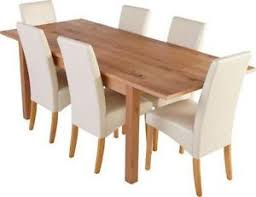 Dining Table And 6 Cream Chairs