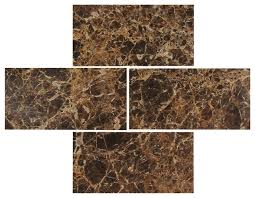 3 x6 emperador polished marble subway tiles set of 8