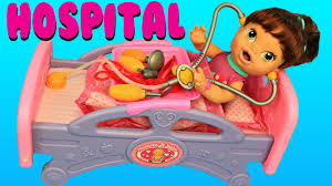 Lalaloopsy Bed Set by Baby Alive Hospital Bed U0026 Doctor Check Up On Lucy Doll Medical Set