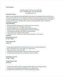 Retail Banking Resume Executive Bank Branch Manager Sample