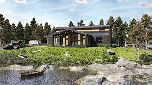 100 River Side House ArtStation Side In USA DEER Design