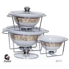 6pcs Ceramic Food Warmer