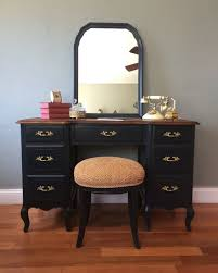 Joss And Main Edna Headboard by Vintage French Provincial Vanity Desk With Mirror And Stool